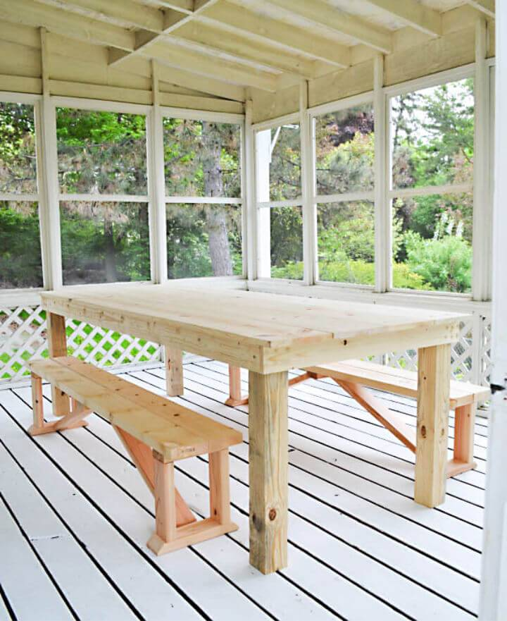 Build a 75 Outdoor Dining Table