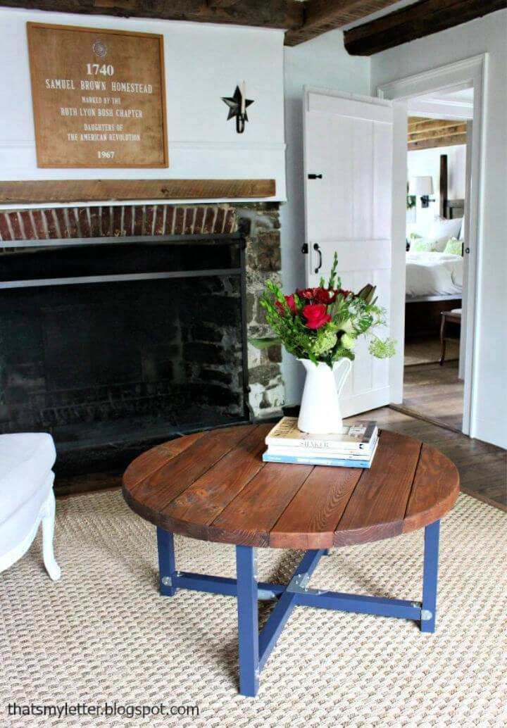 Build a Round Coffee Table
