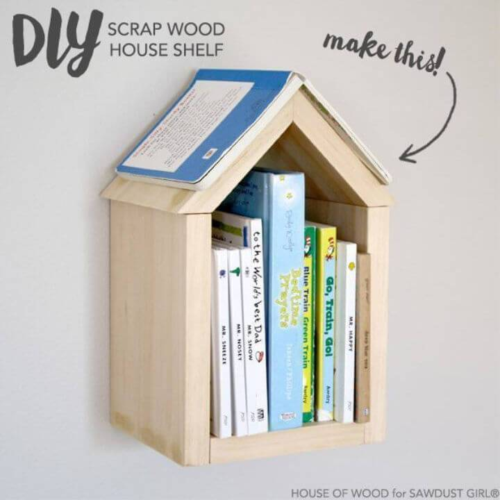 Build a Scrap Wood House Shelf