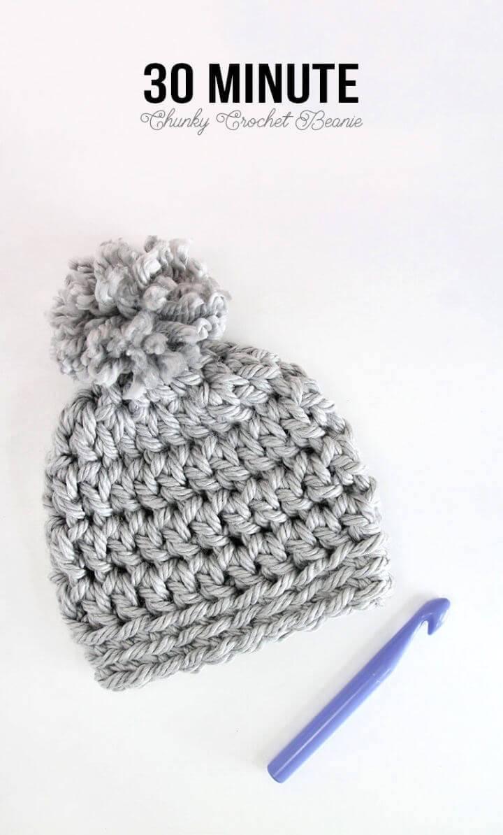 Chunky Beanie Free Crochet Pattern