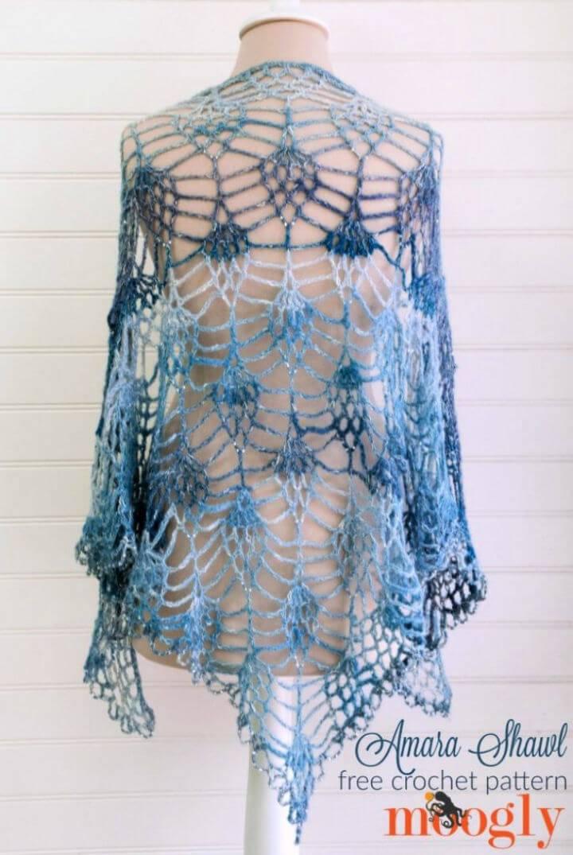 Crochet Amara Shawl Free Pattern
