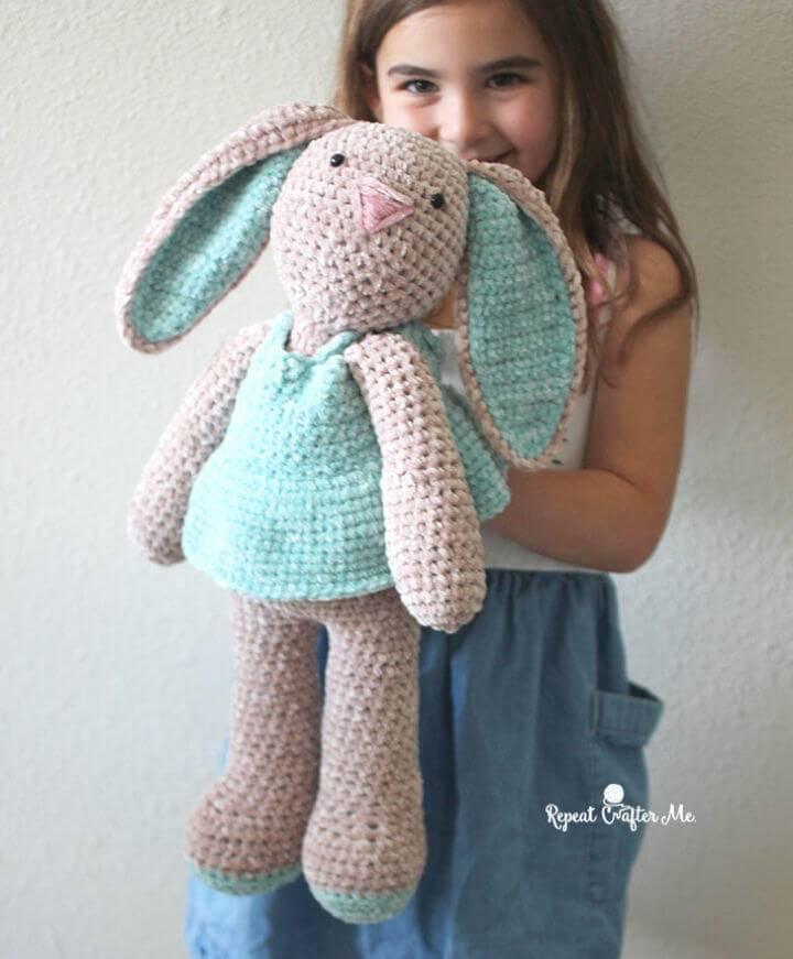 Crochet Bernat Baby Velvet Bunny Free Pattern