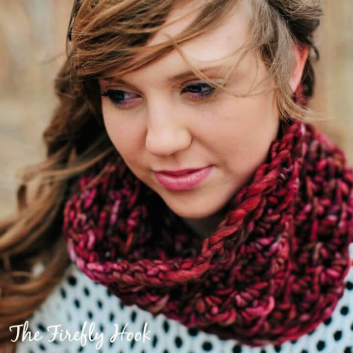 Crochet Dogwood Cowl Free Pattern