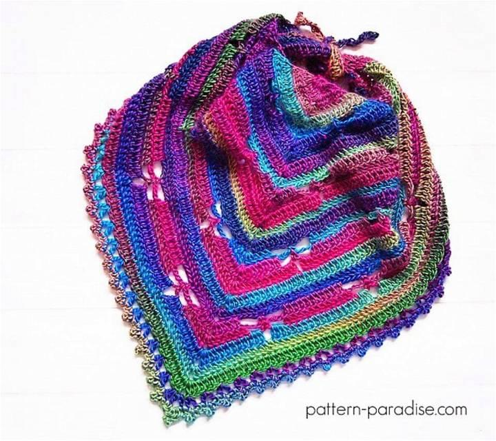 Crochet Dragonfly Bandana Cowl Free Pattern