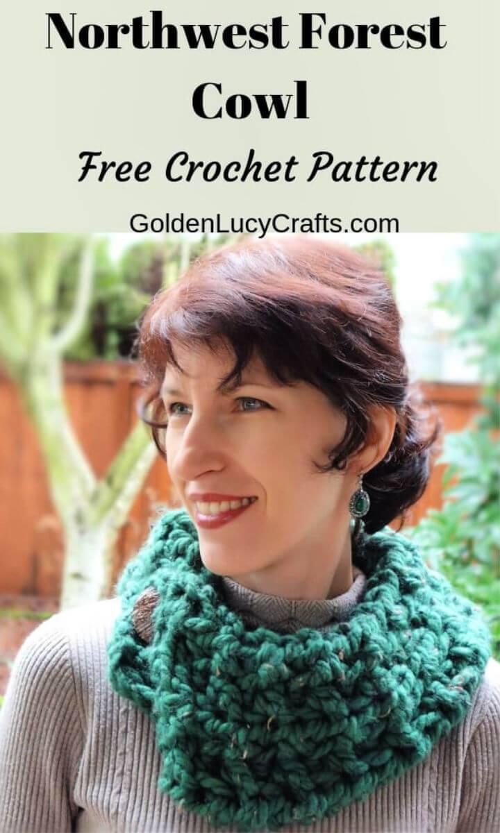 Crochet Northwest Forest Cowl Free Pattern