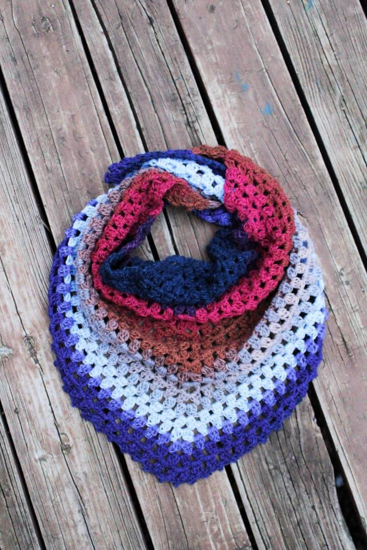 Crochet One Skein Triangle Scarf Pattern