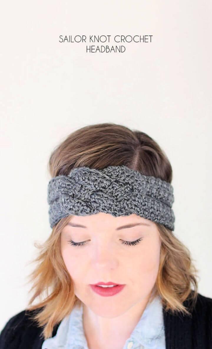 Crochet Sailor Knot Headband – Free Pattern