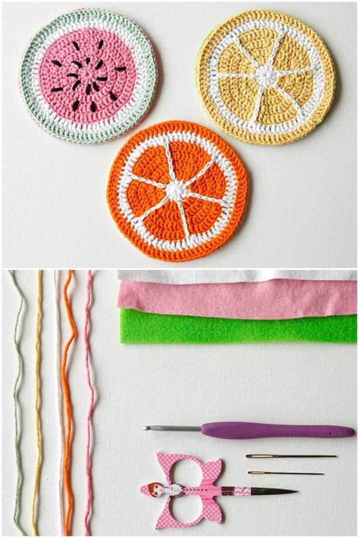 Crochet Tutti Frutti Hot Pad Free Pattern