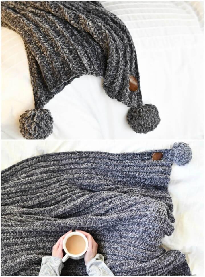 Crochet Velvet Throw Blanket Free Pattern