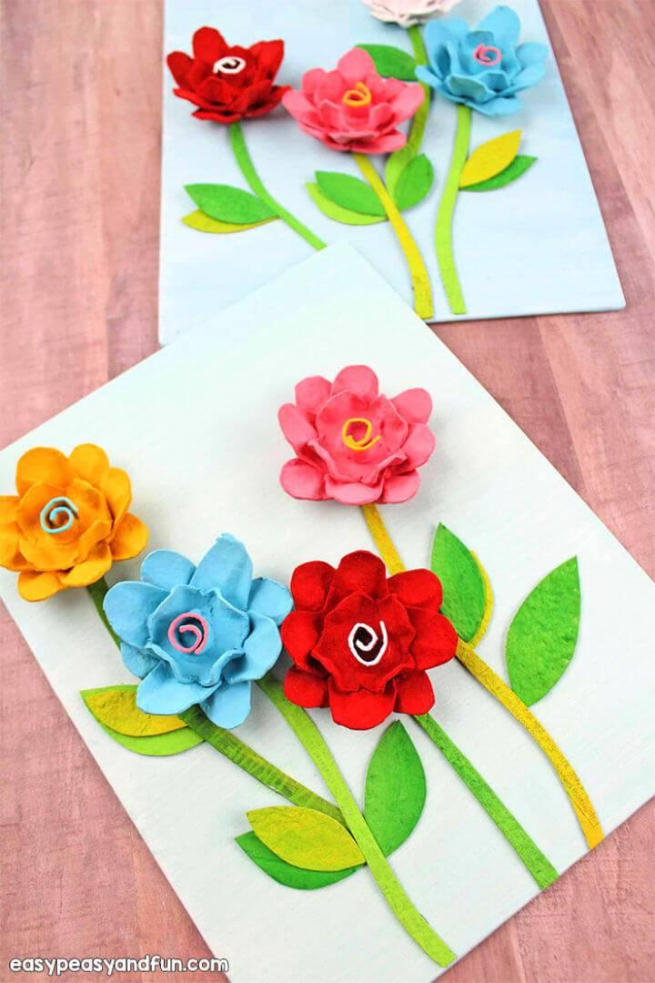 Cute DIY Egg Carton Flowers