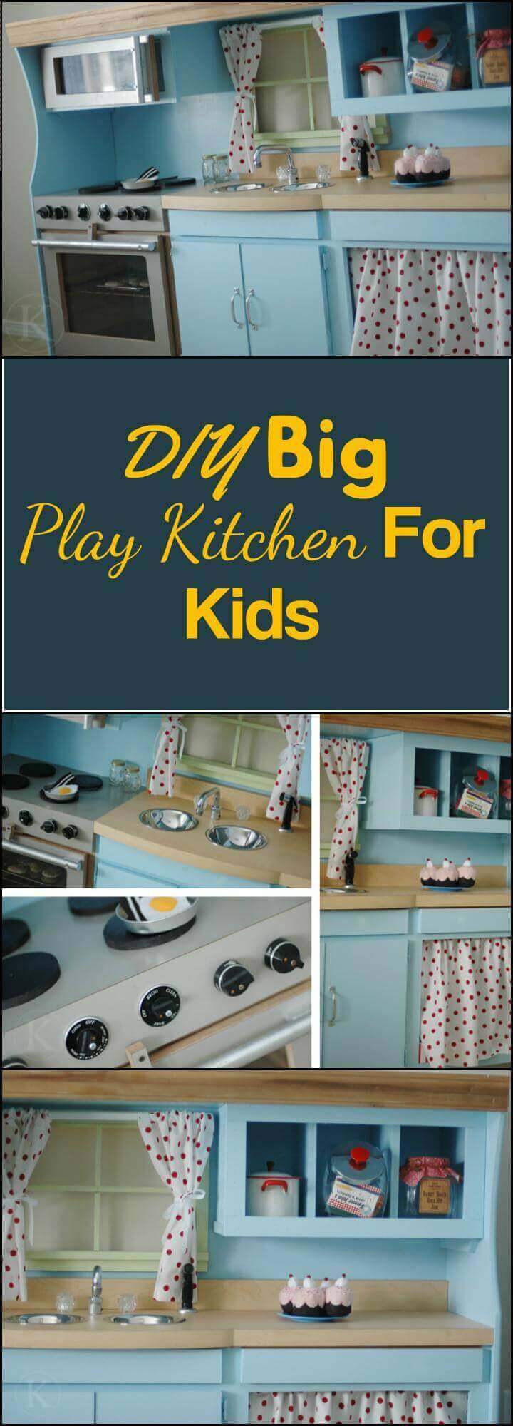 DIY handcrafted easy play kitchen