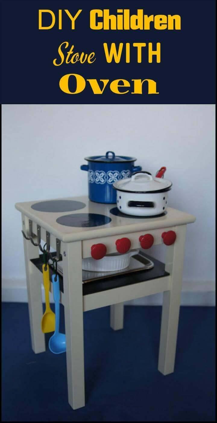 DIY children stove and oven