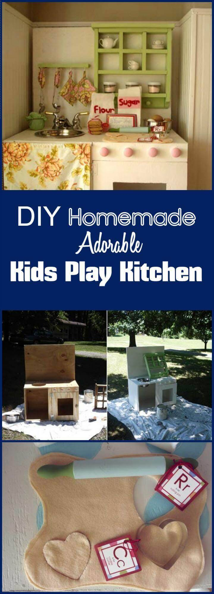 DIY handmade adorable kids play kitchen
