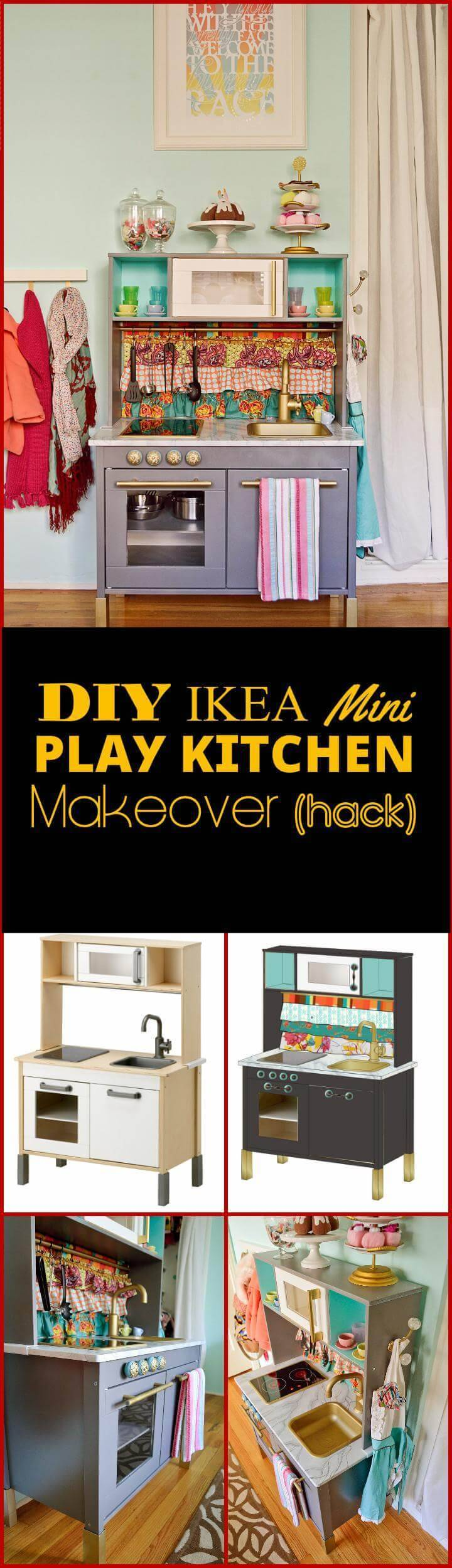 DIY ikea hack mini play kitchen