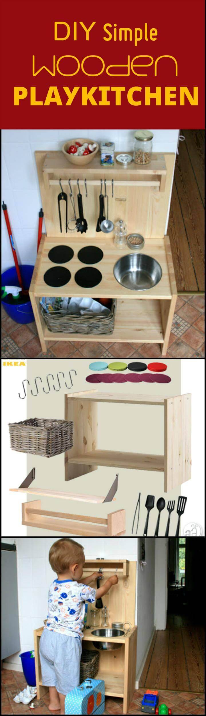 DIY beautiful wooden play kitchen