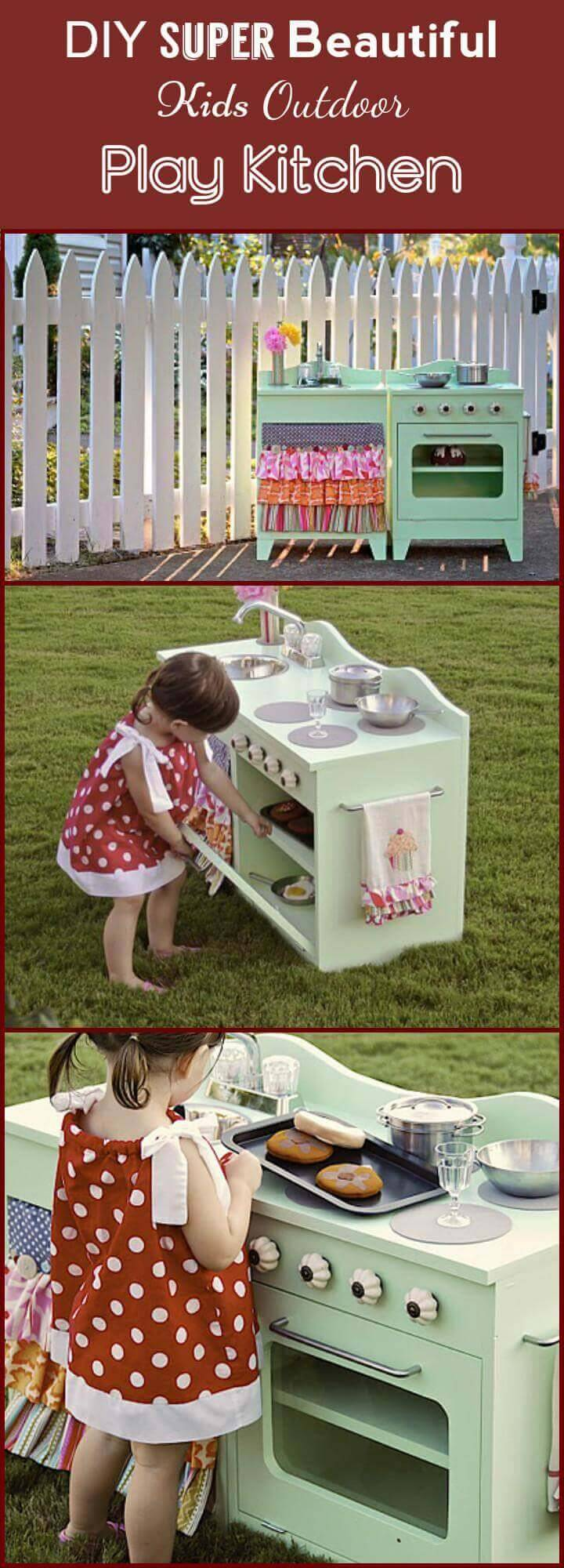 super beautiful kids outdoor play kitchen