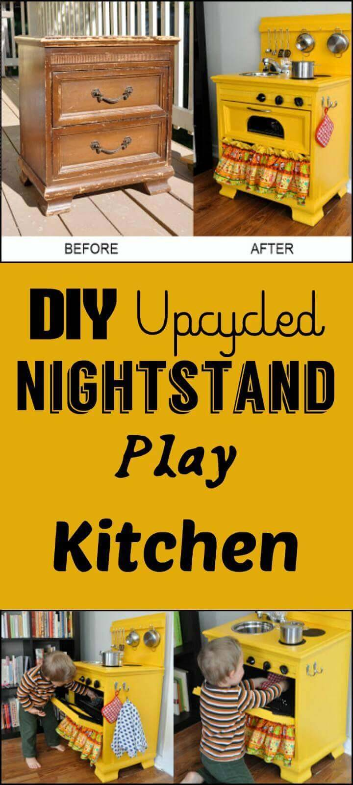 upcycled nightstand play kitchen