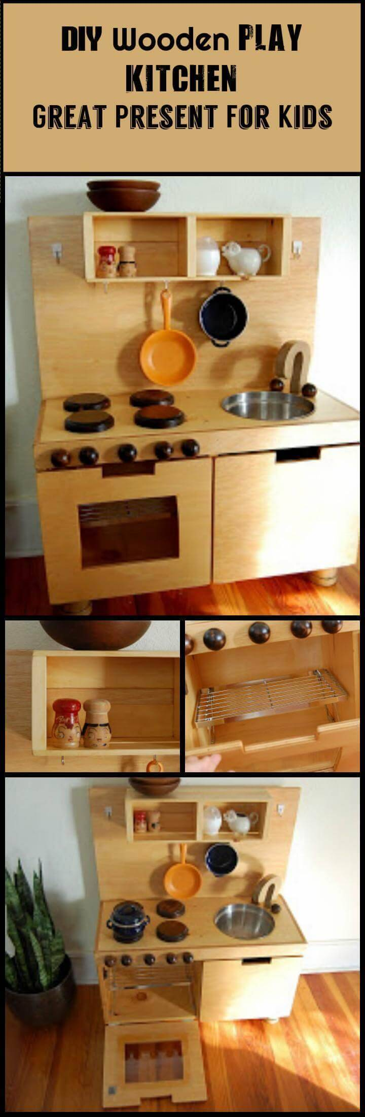 easy wooden handmade play kitchen