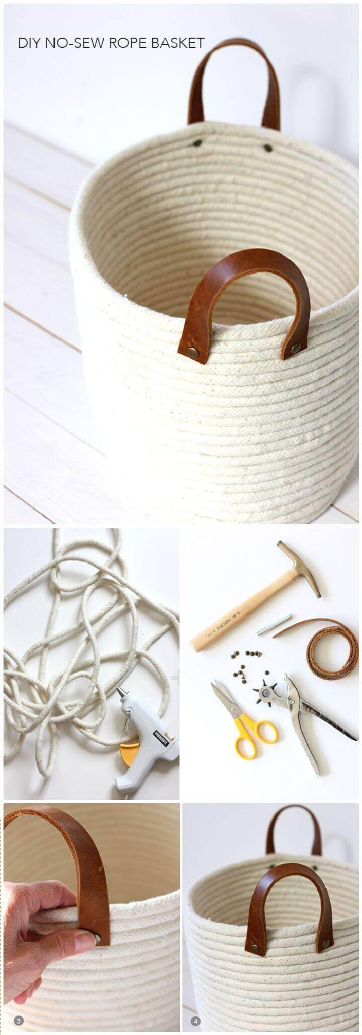 DIY A No-Sew Rope Coil Basket