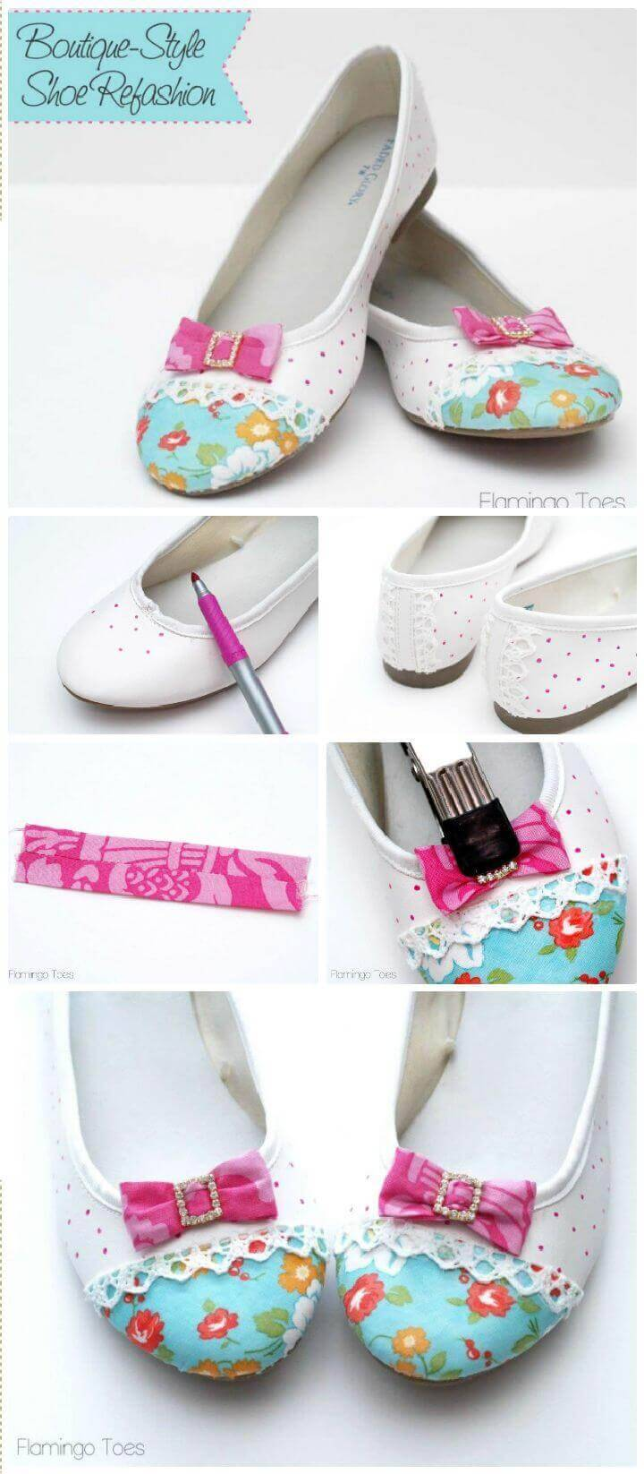 DIY Boutique Style Flats – Shoe Refashion