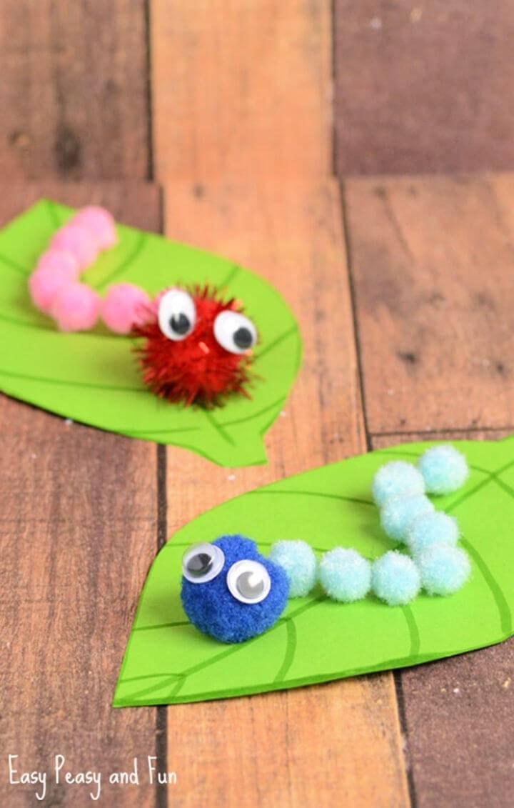 DIY Caterpillar Pom Pom Craft