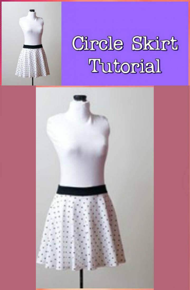 DIY circle skirt video tutorial