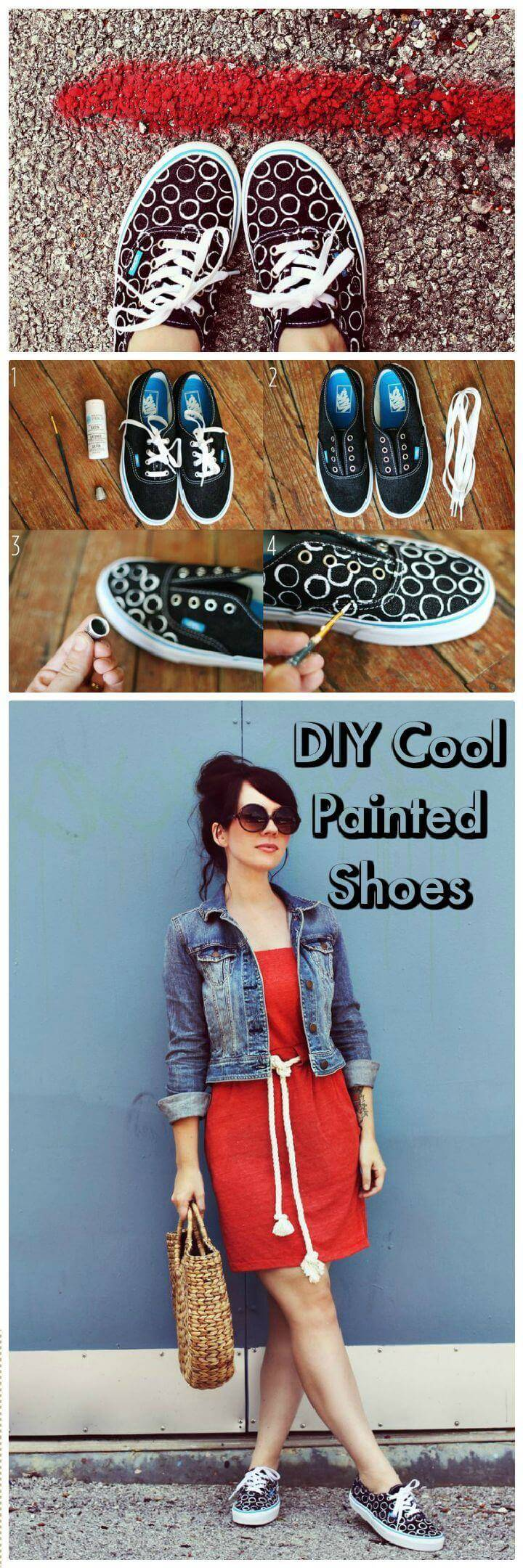DIY Cool Painted Shoes