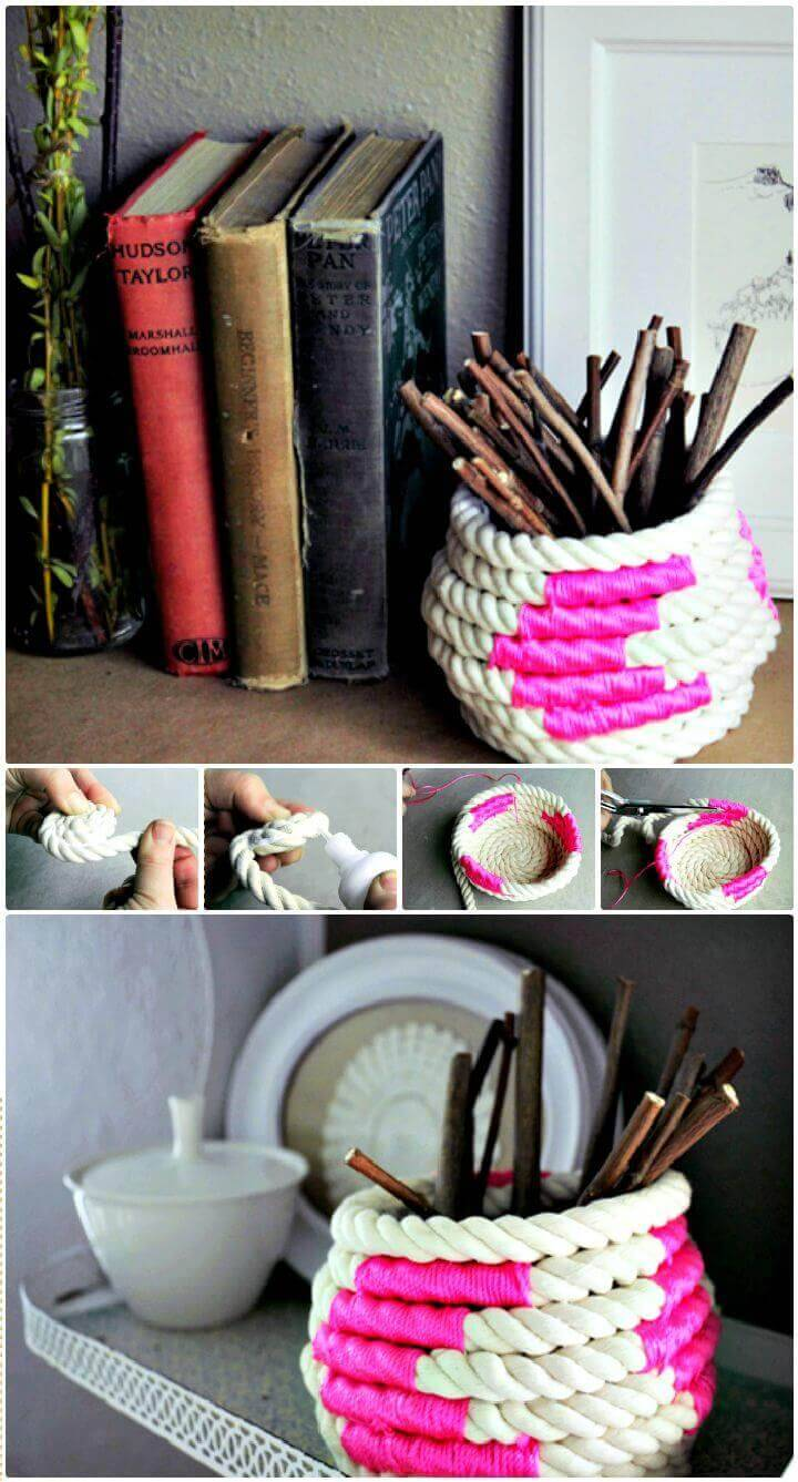 DIY Create A Coiled Rope Basket