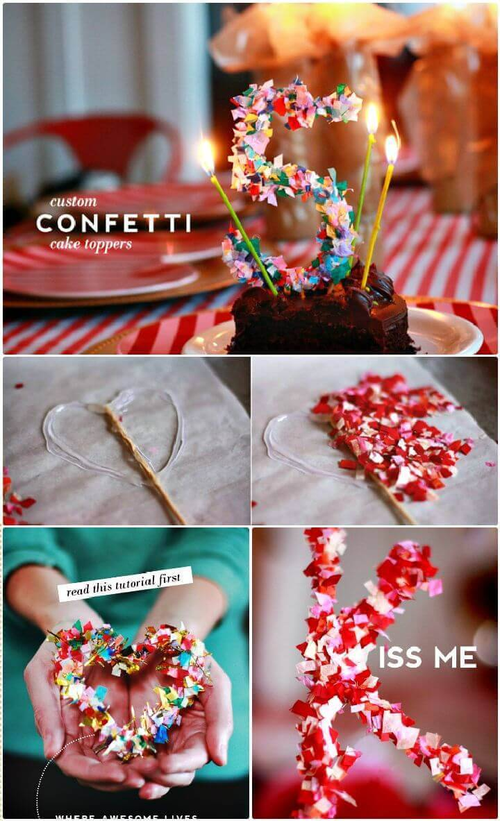 DIY Create Confetti Cake Topper