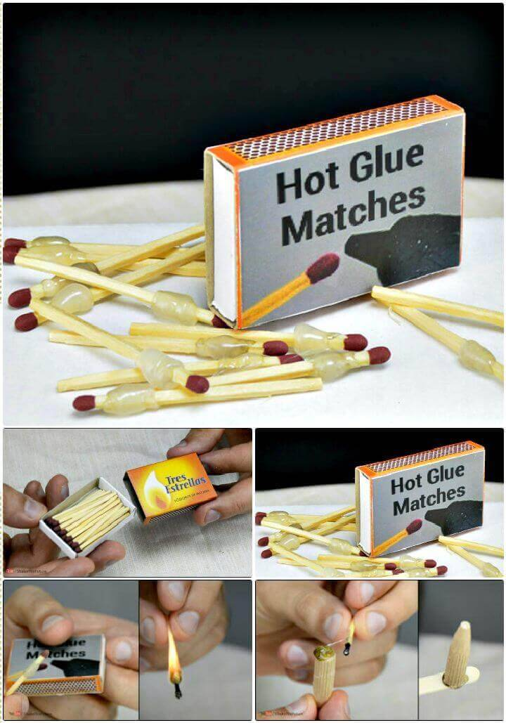 DIY Easy & Simple Hot Glue Matches