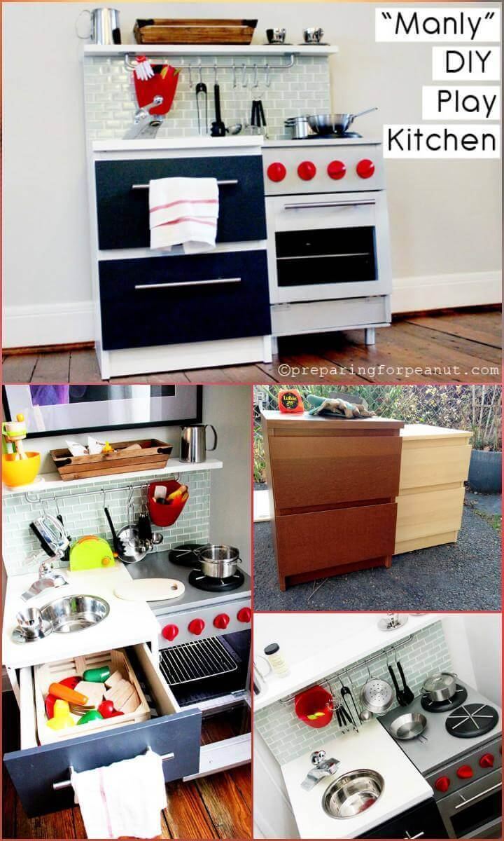 DIY epic kids play kitchen