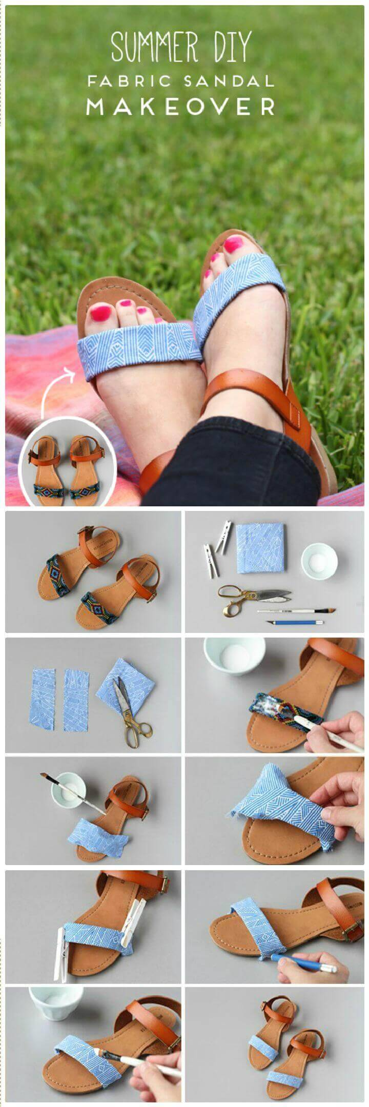DIY Fabric Sandal Makeover