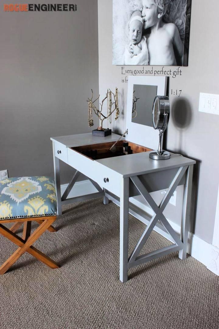 DIY Flip Top Vanity