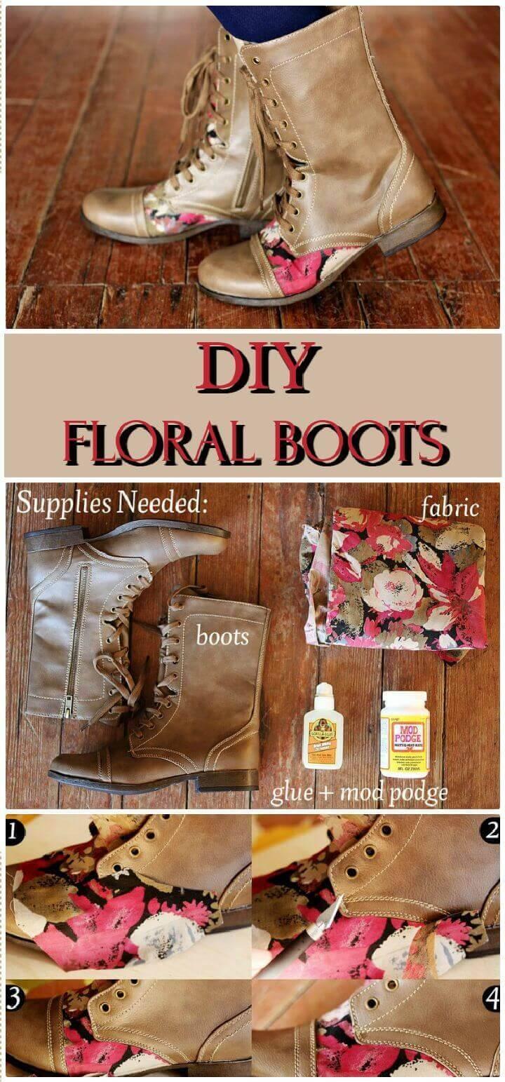 DIY Floral Boots