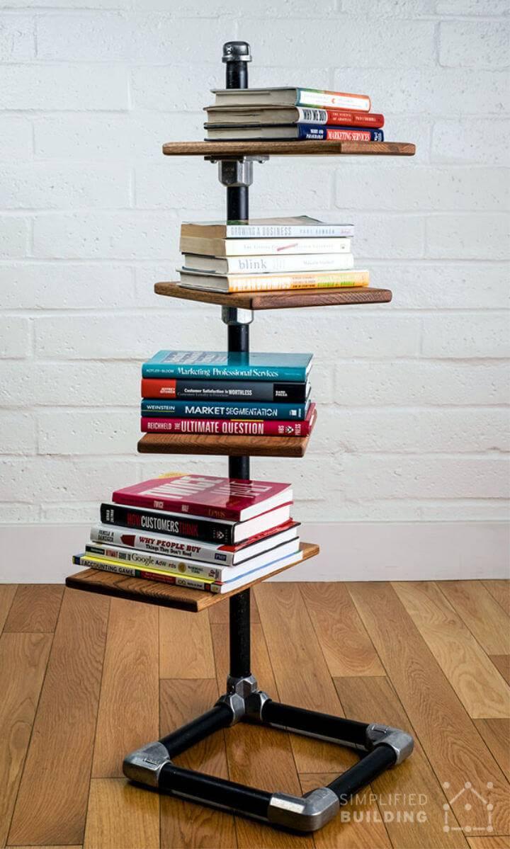 DIY Free Standing Bookshelf