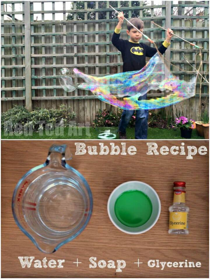 DIY Giant Bubble Wands