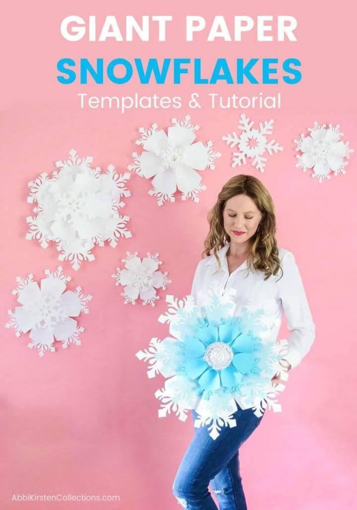 DIY Giant Paper Snowflake Tutorial