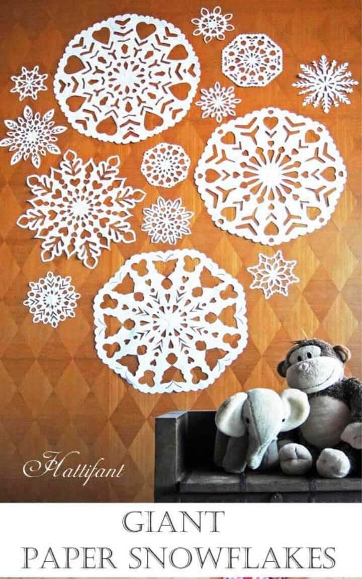 DIY Giant Paper Snowflakes