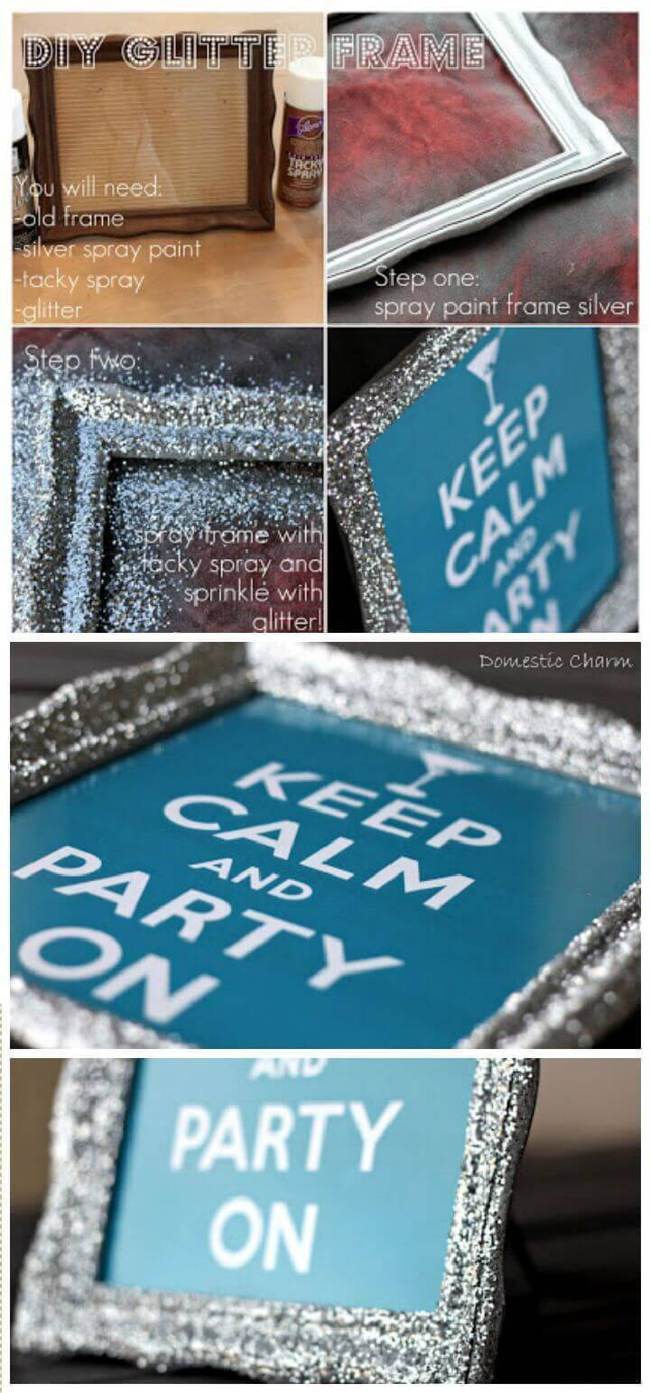DIY Glitter Picture Frame
