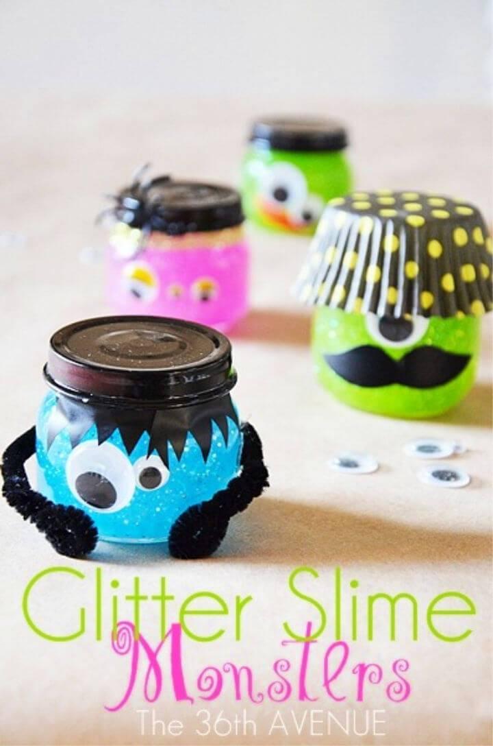 DIY Glitter Slime Monsters