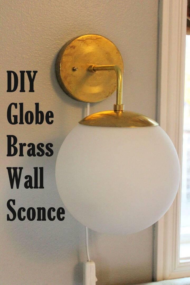 DIY Globe Brass Wall Sconce