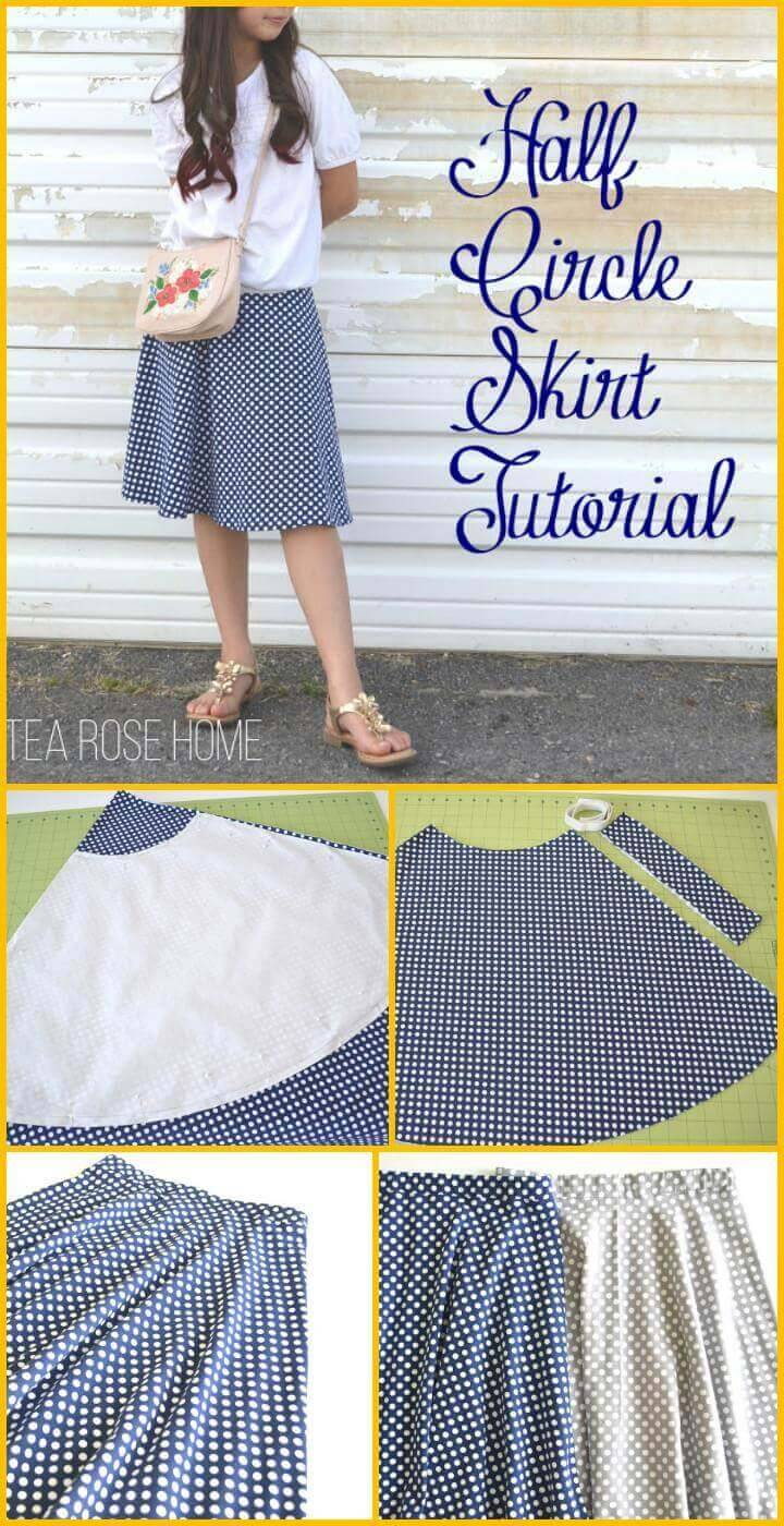 DIY half circle skirt tutorial