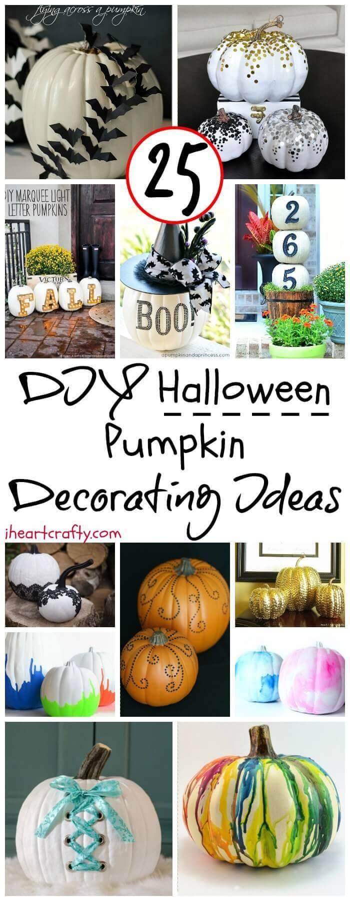 DIY Halloween Pumpkin Decorating Ideas - DIY Fall Decor - DIY Halloween Projects