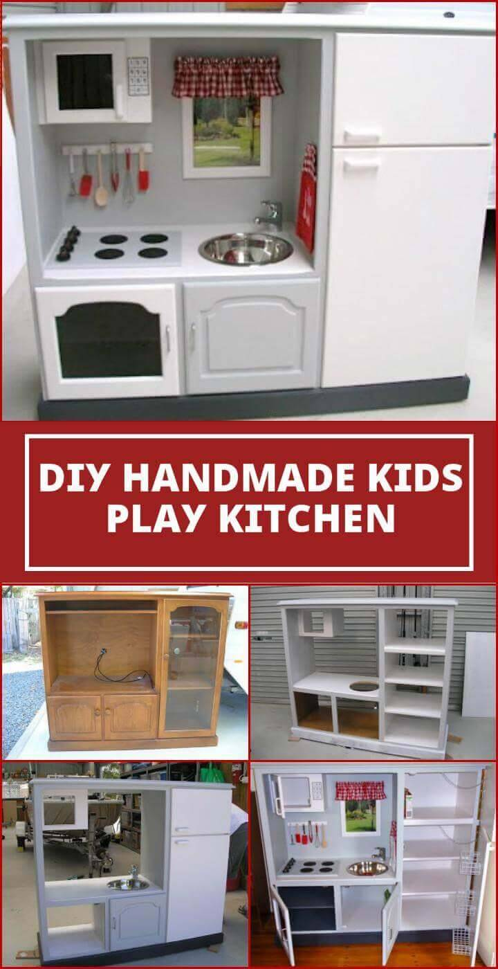 self-made kids play kitchen