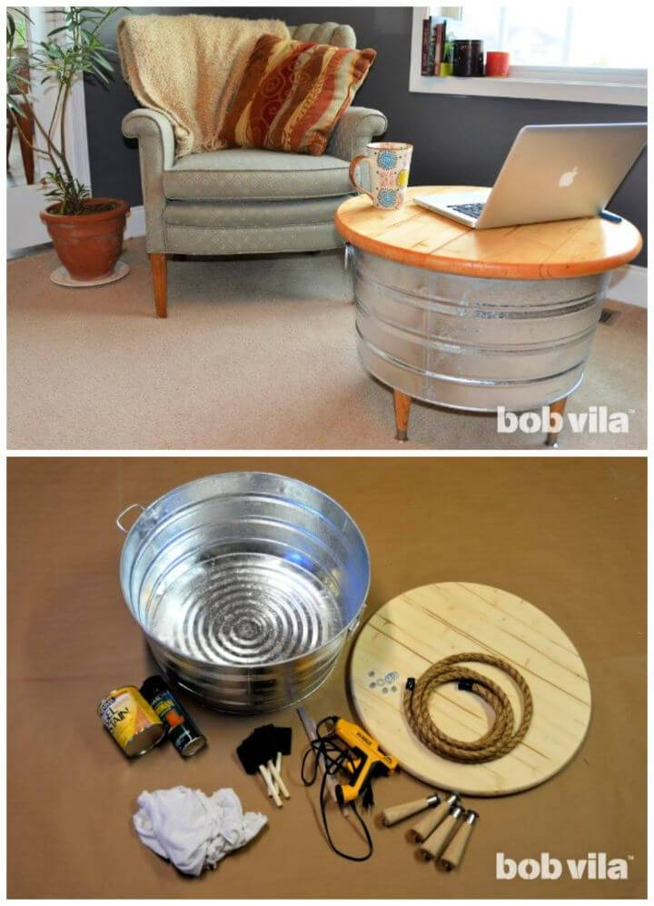 DIY Handmade Round Coffee Table