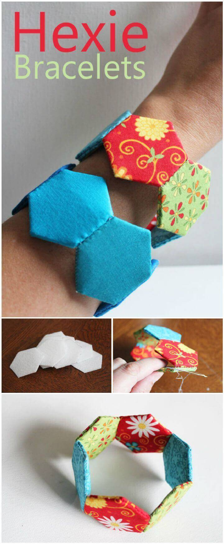 DIY Hexagon Bracelet Sewing Tutorial