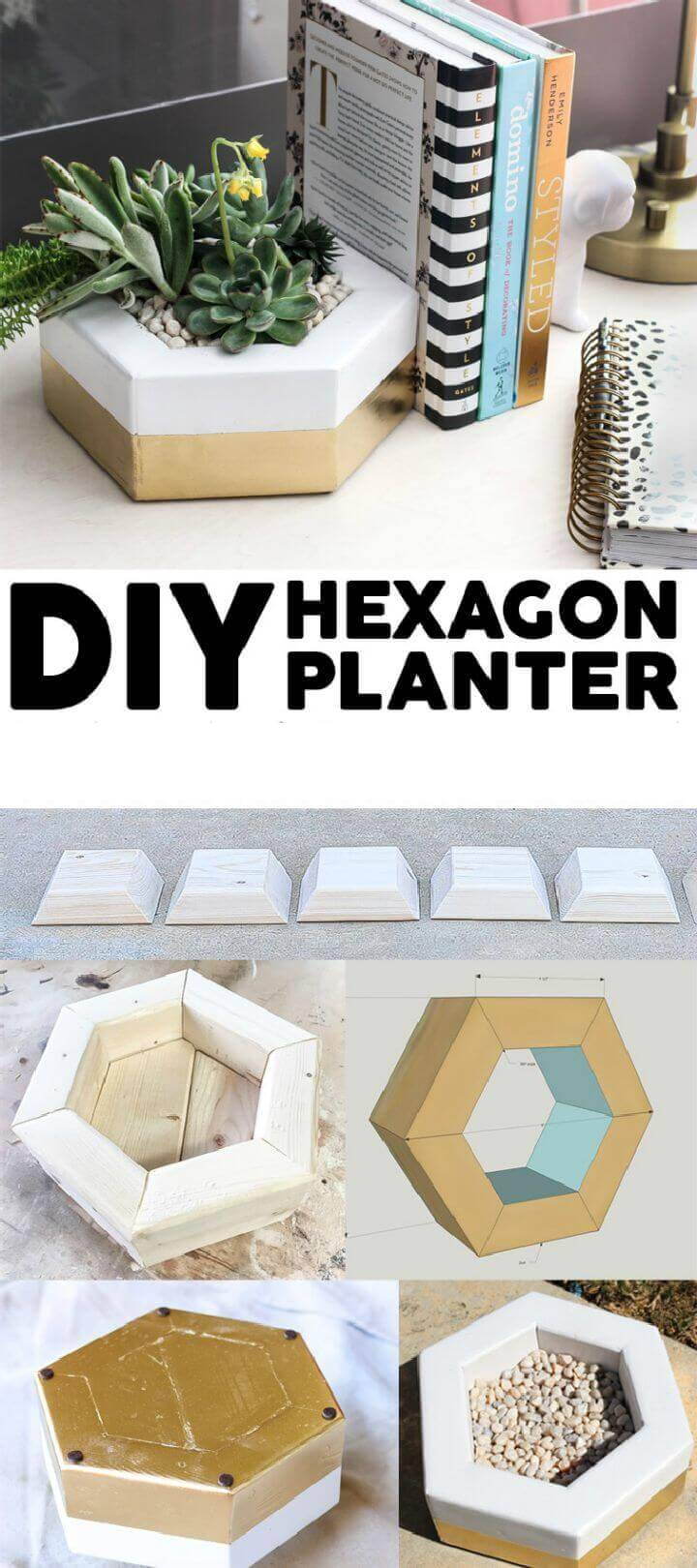 DIY Hexagon Planter out of 2×4 Scrap Wood