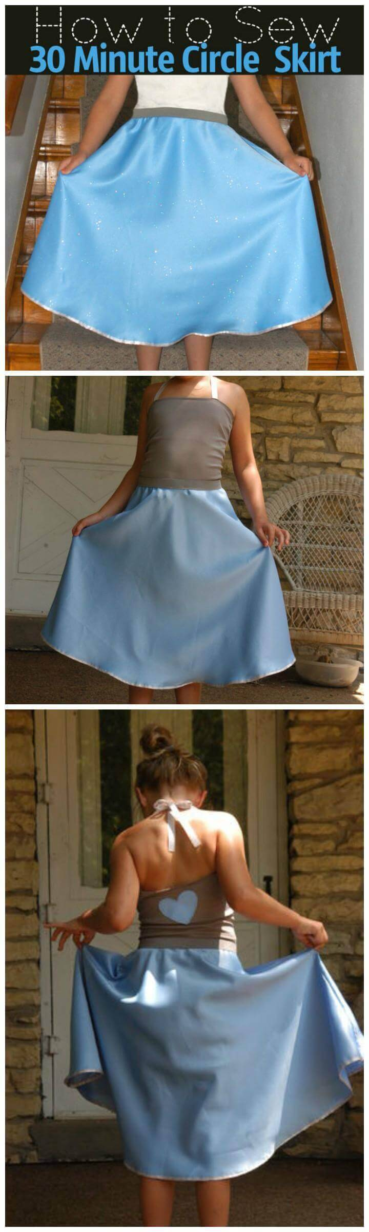 DIY 30 minute circle skirt