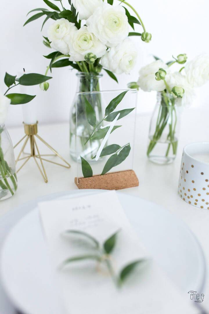 DIY Ikea Hack Wedding Table Number