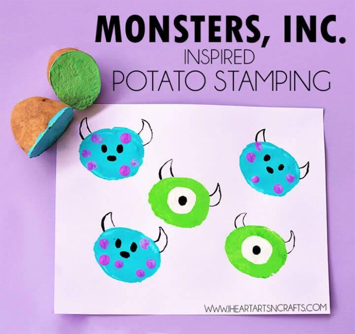 DIY Inspired Potato Stamping